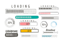 Progress Loading Bar, Set Of I...
