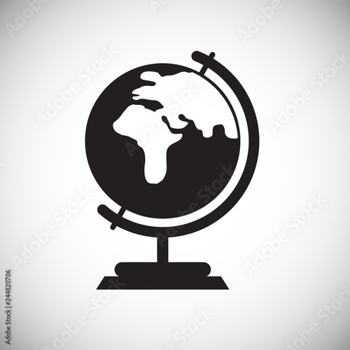 Geography icon on white background for graphic and web design