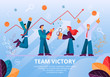 People Celebrates Team Victory Successful Project