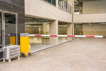 Barrier Gate Automatic System For Security Before Entering The Building