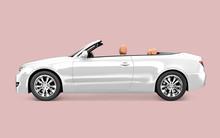 White Convertible Car