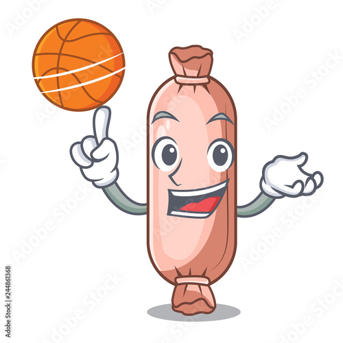 With Basketball Bolster On The Funny Cartoon Shape Buy This Stock Vector And Explore Similar Vectors At Adobe Stock Adobe Stock