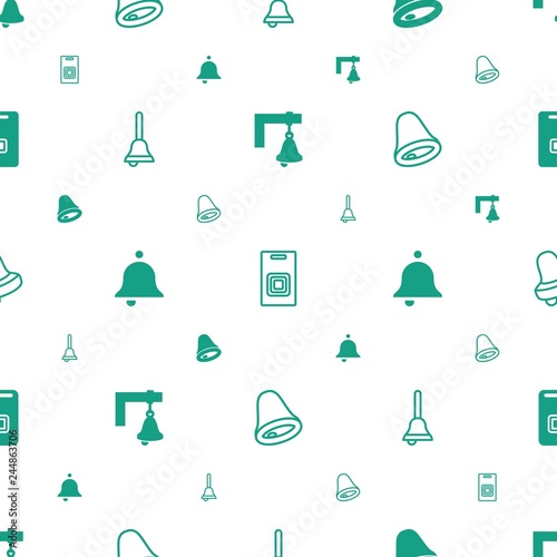 Foto  doorbell icons pattern seamless white background