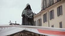 Statue Of Giordano Bruno In Campo Dei Fiori Square (Rome, Italy).