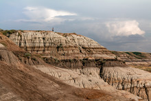 Overlooking The Hoodoo Cliffs ...