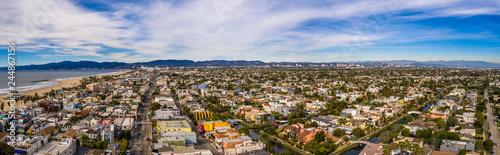 Los Angeles aerial drohnen panorama Bild Canvas Print