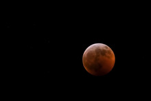 Full Lunar Eclipse And Stars