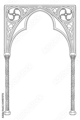 Photographie Medieval manuscript style rectangular frame