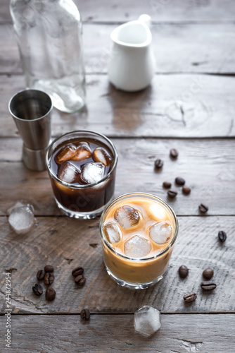 Black and White Russian Cocktails