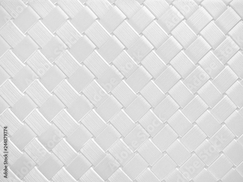 Fotografía  Beautiful metal weaving background in futuristic technology style white color, a