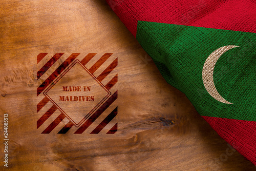 Staande foto Algerije Flag and symbol made in Maldives
