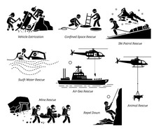 Rescue Operations Pictograms. ...