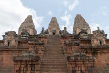 Steep Stone Steps Climb To Tem...