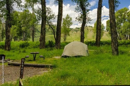 Obraz na płótnie Gros Ventre Campground, Grand Teton National Park, Wyoming, United States