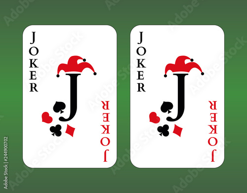 Playing cards. Joker Wallpaper Mural