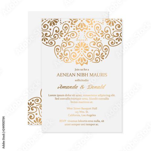Fototapety, obrazy: Luxury wedding invitation