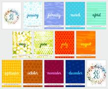 Calendar Design For The Year 2...