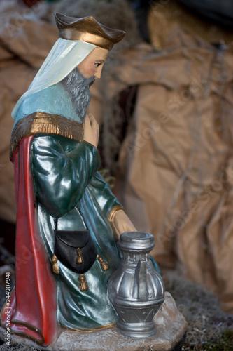 Fotografie, Obraz  El rey mago en nacimiento