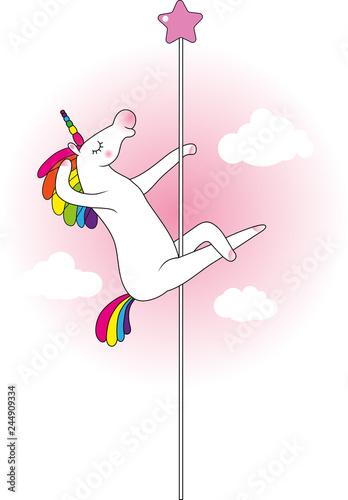 Fotografija Unicorn pole dancer