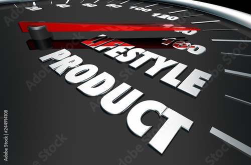 Lifestyle Product Marketing Speedometer Words 3d