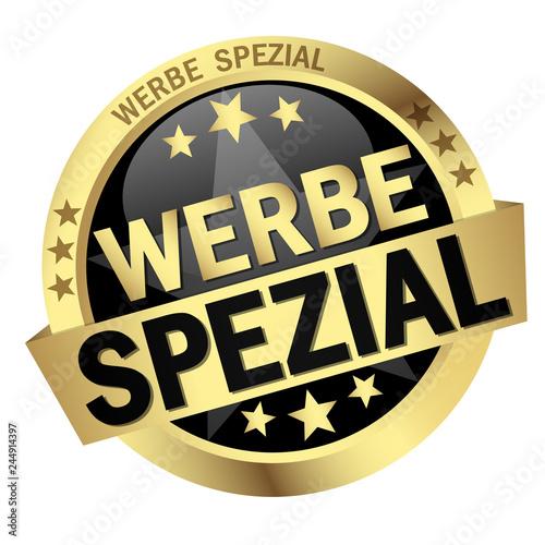 Photo Button with banner Werbespezial