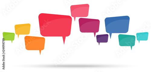 colored speech bubbles in a row Tapéta, Fotótapéta