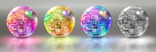 Set Of Disco Balls. Vector Ill...