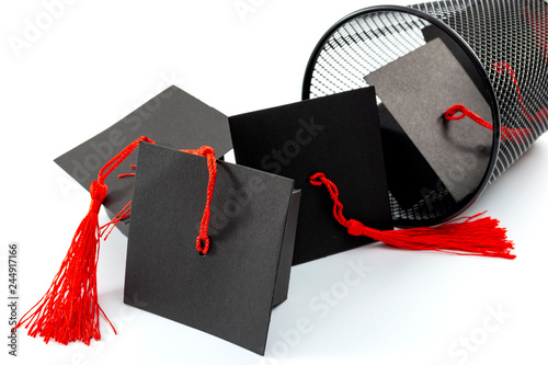 Cuadros en Lienzo Useless university degree and collage is a waste of time and money concept theme