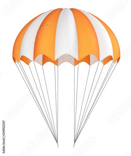 Fotografia Parachute, orange with white, striped