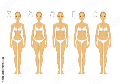 Carta da parati Female Body Shapes