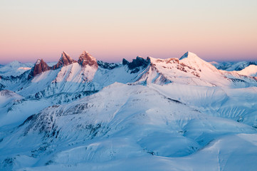 moutains sunset