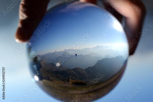 Gleitschirmflieger in der Allgäuer Alpen