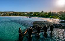 Sunset On Penneshaw Beach On Kangaroo Island South Australia