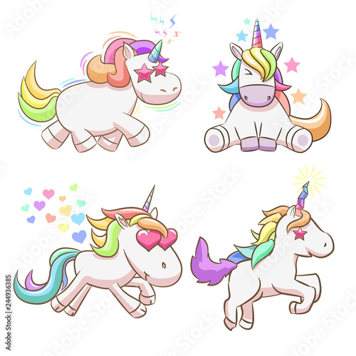 baby unicorn clipart - Buy this stock vector and explore