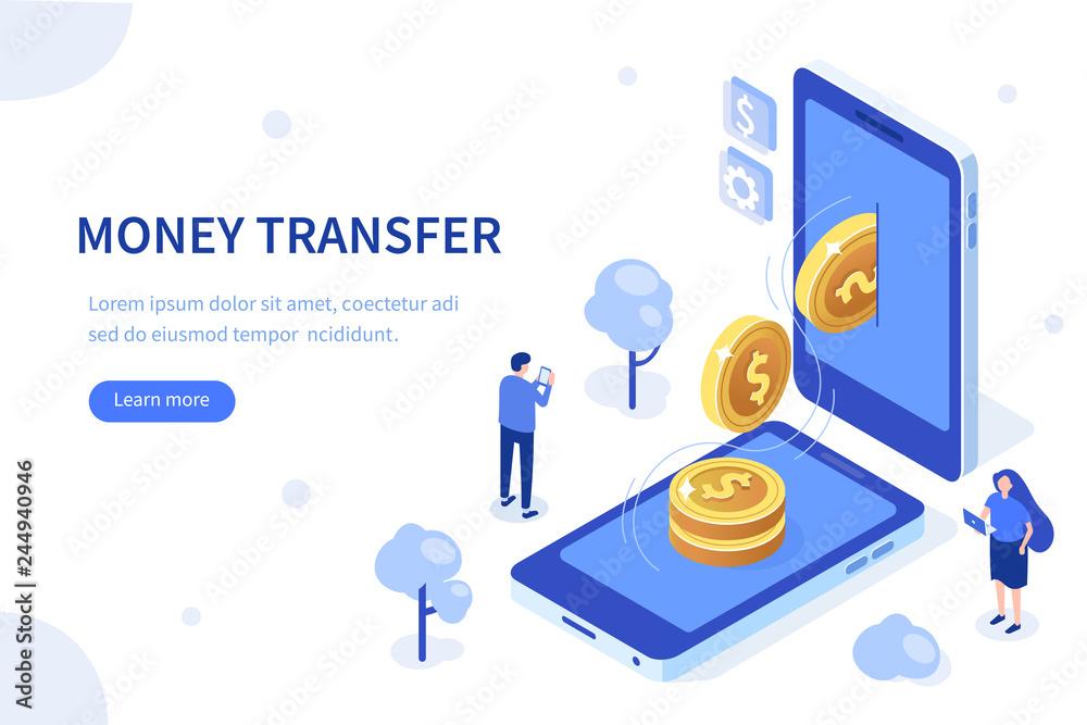 Fototapeta money transfer