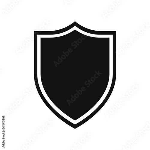 Shield icon  Protection symbol  Isolated sign black shield