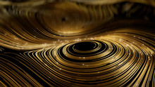 3d Render Abstract Gold Round ...
