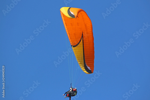 Tandem paraglider flying wing