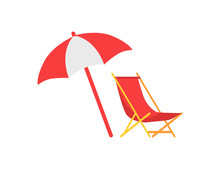 Umbrella And Deck Chair Set Ve...