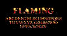 Vector Of Abstract Flaming Fon...