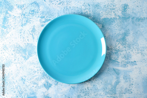 Photo Stands Painterly Inspiration Stylish plate on color background