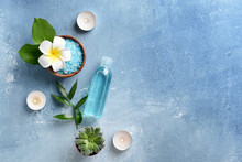 Beautiful Spa Composition On Color Background