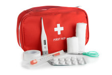 First Aid Kit On White Backgro...