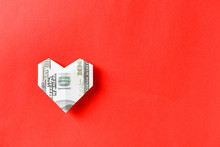 Origami Heart Made Of Dollar B...