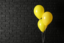Bright Balloons On Dark Backgr...