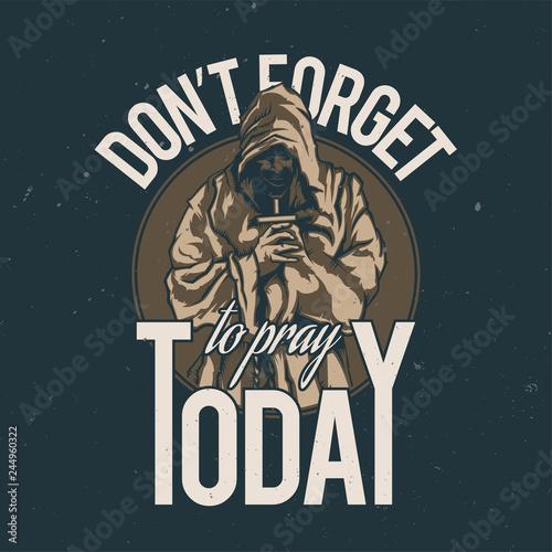 T-shirt or poster design Fototapeta