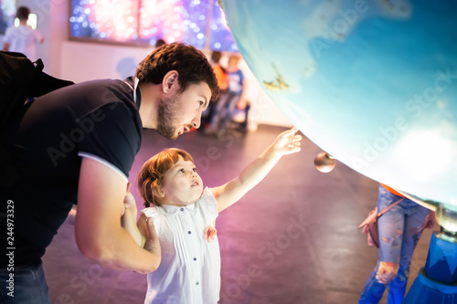 Photo MOSCOW, RUSSIA - JULY 6: Exhibition in Moscow Planetarium
