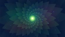 Dark Green Abstract Background...