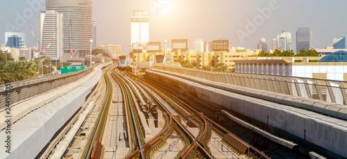 Fototapeta Dubai city Lines Metro