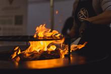 Barbecue Grill, Close - Up. Pr...